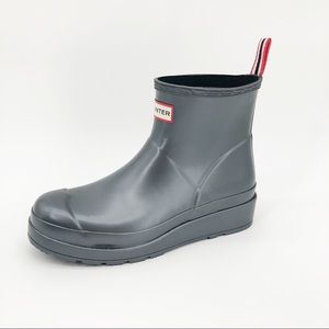 Hunter Original Short Nebula Play Rain Boots Gray